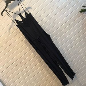 Lucky Brand Black Jumpsuit, Size Large